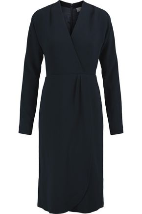 MIKAEL AGHAL Wrap-effect crepe midi dress