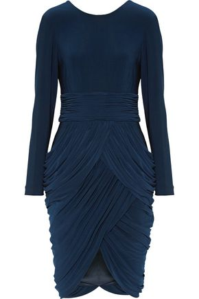 MIKAEL AGHAL Ruched stretch-jersey dress