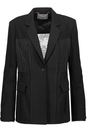 JASON WU Lace-paneled crepe-twill blazer