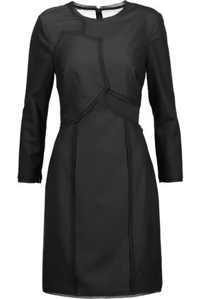 JASON WU Georgette-paneled cady dress