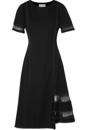 JASON WU Lace-paneled cady dress