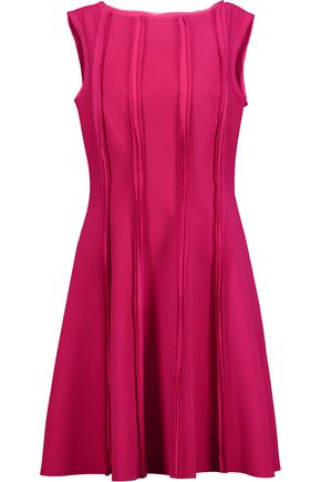 JASON WU Chiffon-trimmed stretch-crepe mini dress