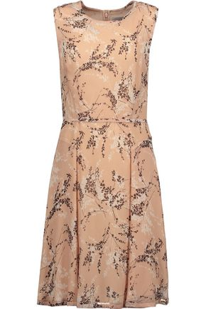 JASON WU Pleated printed silk-georgette dress