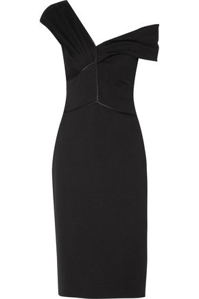 JASON WU Satin-trimmed ponte dress