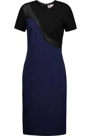 JASON WU Silk organza-trimmed stretch-ponte dress
