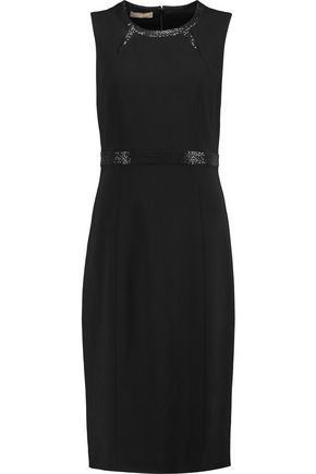 MICHAEL KORS COLLECTION Embellished wool-crepe dress