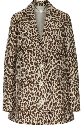 STELLA McCARTNEY Daria leopard-print wool-blend jacquard jacket