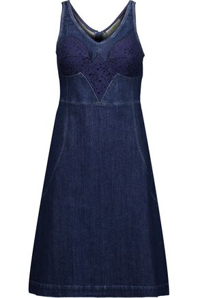 STELLA McCARTNEY Dori embroidered denim dress