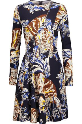 STELLA McCARTNEY Barale zip-detailed printed crepe mini dress