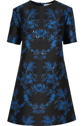 STELLA McCARTNEY Laycie crystal-embellished brocade mini dress