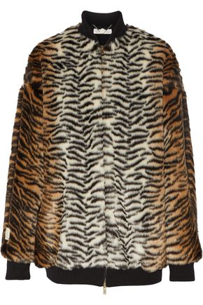 STELLA McCARTNEY Printed faux fur bomber jacket
