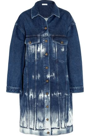 STELLA McCARTNEY Oversized tie-dye stretch-denim jacket