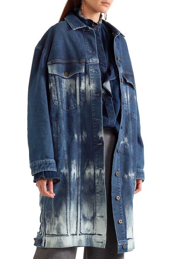 Oversized tie-dye stretch-denim jacket | STELLA McCARTNEY | Sale up to 70%  off | THE OUTNET