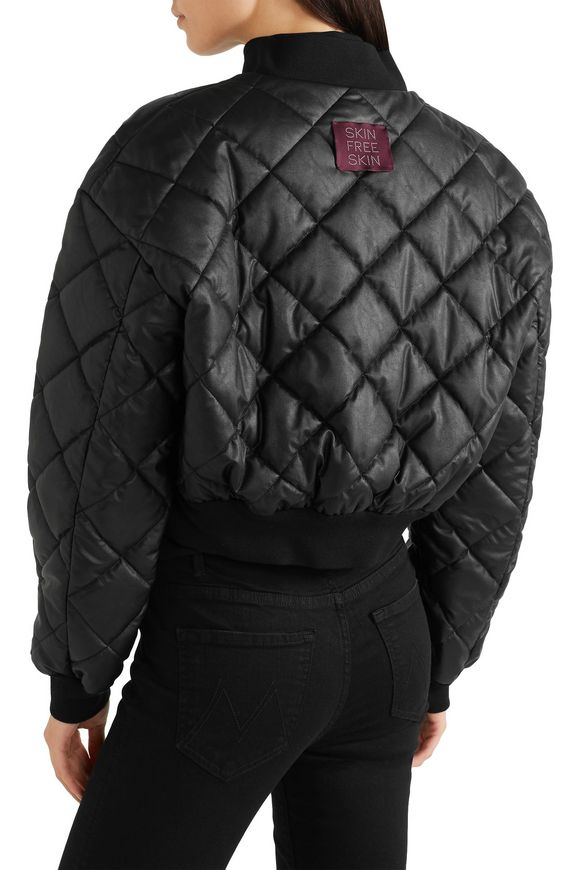 Marisa cropped quilted faux leather bomber jacket | STELLA McCARTNEY | Sale  up to 70% off | THE OUTNET
