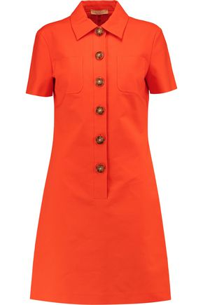 MICHAEL KORS COLLECTION Stretch cotton-poplin mini dress