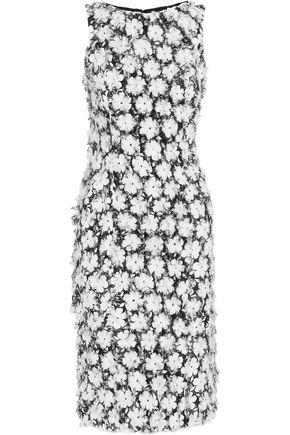 MICHAEL KORS COLLECTION Floral fil coupe midi dress