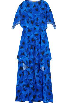 MICHAEL KORS COLLECTION Poppy draped floral-print silk-crepe maxi dress