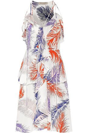 EMILIO PUCCI Tiered printed silk-crepe dress
