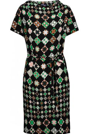 EMILIO PUCCI Belted printed crepe mini dress