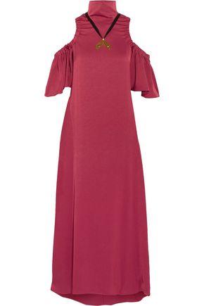 ELLERY Deity cold-shoulder embellished crepe maxi dress