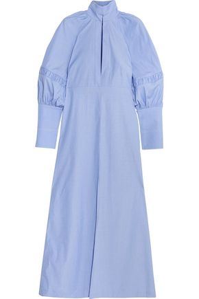 ELLERY Nitehawk gathered cotton maxi dress