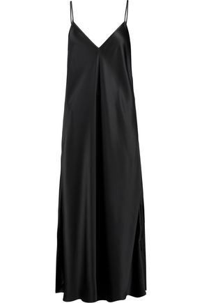 ELLERY Technopriest silk-satin midi slip dress