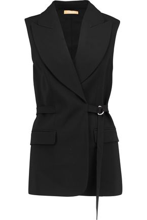 MICHAEL KORS COLLECTION Belted wool-twill vest