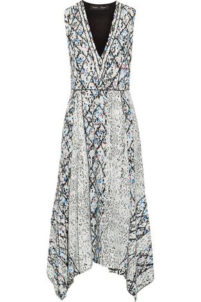 PROENZA SCHOULER Printed silk-georgette midi dress