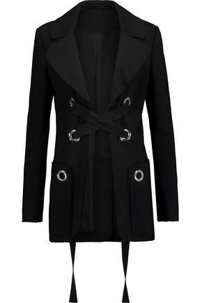 PROENZA SCHOULER Embellished lace-up crepe jacket