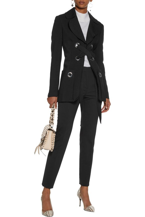Embellished lace-up crepe jacket | PROENZA SCHOULER | Sale up to 70% off |  THE OUTNET
