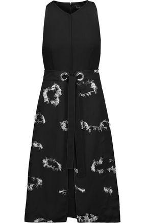 PROENZA SCHOULER Fil coupé crepe midi turtleneck dress