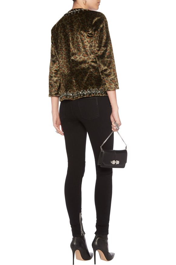 Embellished leopard-print faux fur jacket | L'AGENCE | Sale up to 70% off |  THE OUTNET
