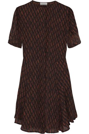 A.L.C. Aerin printed silk-crepe mini dress