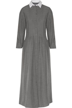 MM6 MAISON MARGIELA Cotton poplin-paneled pintucked voile maxi dress