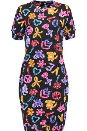 LOVE MOSCHINO Printed stretch-cotton jersey dress