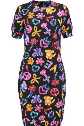 LOVE MOSCHINO Printed stretch-cotton jersey dress