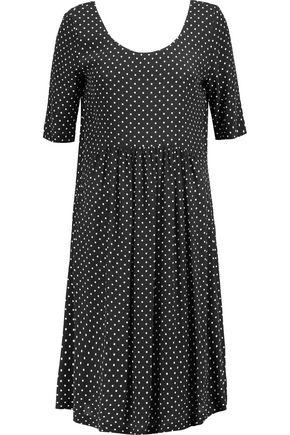 LOVE MOSCHINO Polka-dot crepe de chine dress