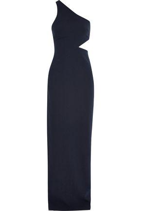 CINQ À SEPT Leonella one-shoulder cutout crepe gown