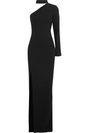 CINQ À SEPT Nola one-shoulder stretch-crepe gown