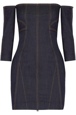 CINQ À SEPT Fenton off-the-shoulder denim mini dress