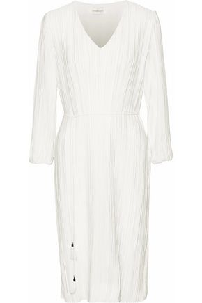 ZIMMERMANN Tasseled plissé-jersey dress