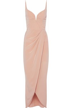 ZIMMERMANN Wrap-effect ruched silk crepe de chine gown