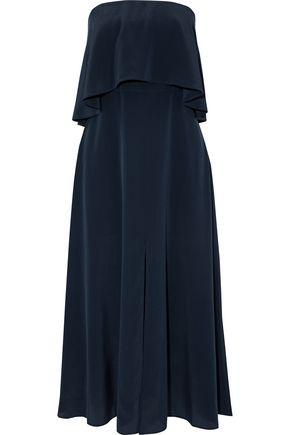 ZIMMERMANN Layered strapless silk-satin midi dress