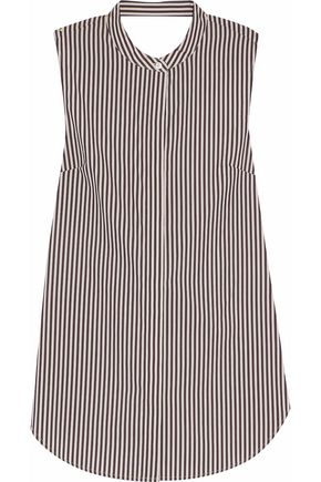 3.1 PHILLIP LIM Knotted striped cotton and silk-blend top