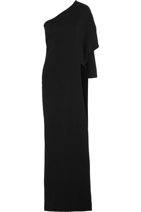 GIVENCHY Black stretch-cady gown