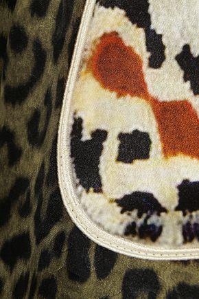 GIVENCHY Appliquéd leopard-print silk dress