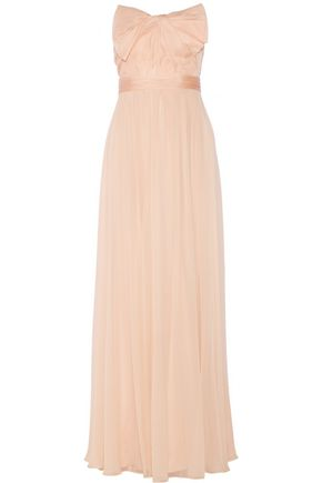 MARCHESA NOTTE Silk-organza and chiffon gown