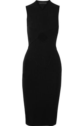 ALEXANDER WANG Cutout stretch cotton-blend dress
