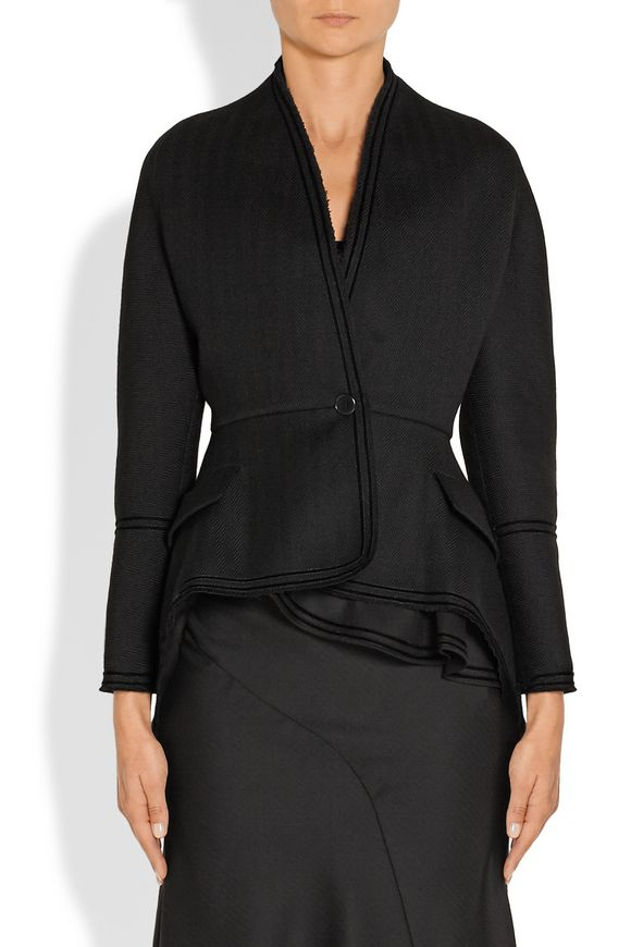 Chevron wool jacket with velvet trim   GIVENCHY   Sale up to 70% off   THE  OUTNET