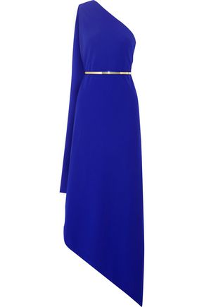 STELLA McCARTNEY One-shoulder asymmetric stretch-cady gown